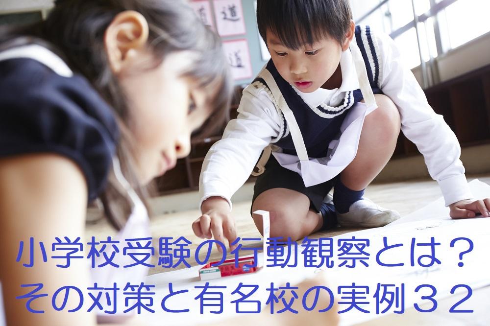 小学校受験の行動観察とは?その対策と有名校の実例32